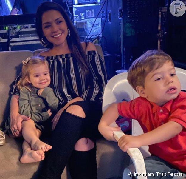 Thais Fersoza falou sobre a relação dos filhos, Melinda e Teodoro, nesta segunda-feira, 6 de janeiro de 2020