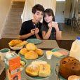 Sophia Valverde e Lucas Burgatti trocam mensagens de carinho em foto nos EUA publicada nesta sexta-feira, dia 10 de janeiro de 2020