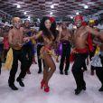 MC Rebecca mostrou samba no pé em ensaio de Carnaval no Rio