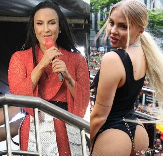 Luísa Sonza e Claudia Leitte comandaram seus blocos de Carnaval pelas ruas de São Paulo neste domingo, 16 de fevereiro de 2020
