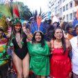 Alessandra Negrini, de índia em bloco de Carnaval, é criticada por apropriação cultural na internet