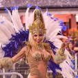 Tati Minerato acompanhou pela internet a apuração que o título para a Águia de Ouro no carnaval de SP