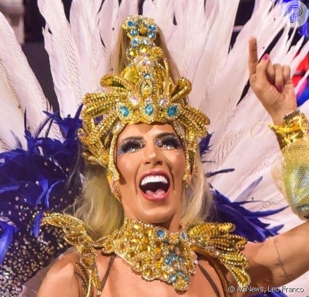 Tati Minerato vibra com título da Águia de Ouro no carnaval de SP: 'Pé quente!'