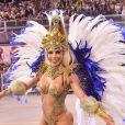 Tati Minerato estreou como musa da Águia de Ouro, escola campeã do carnaval 2020 em São Paulo: 'Fui pé quente!'