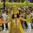 Paolla Oliveira, rainha de bateria da Grande Rio, dedicou post à escola por conta do segundo lugar