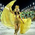Paolla Oliveira, rainha de bateria da Grande Rio, escreveu: 'Muito muito emocionada. Vitórias não são feitas apenas com títulos, mas com vontade, com dedicação, com amor'