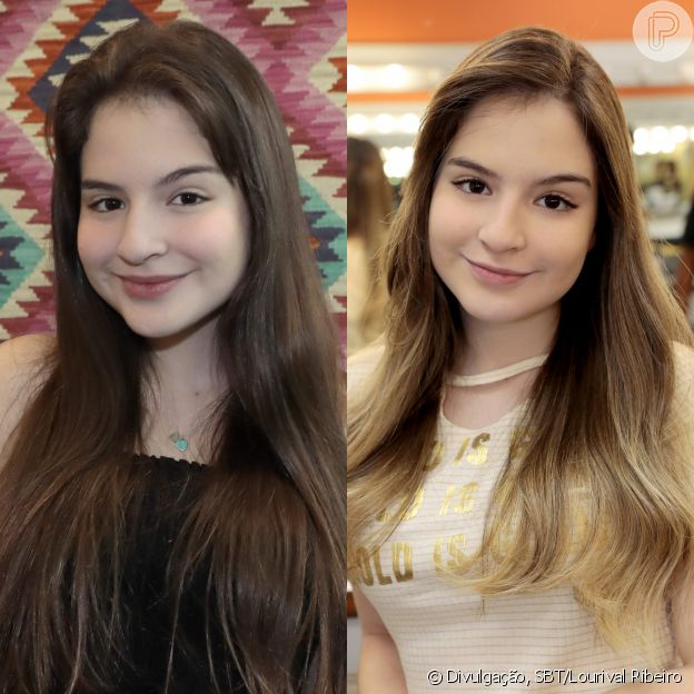 Antes e depois do novo visual de Sophia Valverde