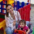 Thaeme Mariôto mostra a rotina da filha, Liz, de 11 meses, com frequência em suas redes sociais