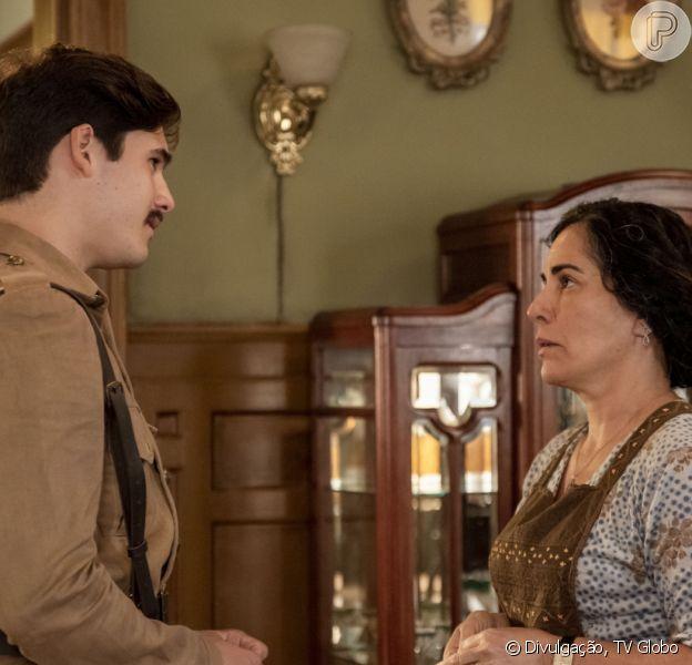 Penúltimo capítulo da novela 'Éramos Seis' tem reencontro de Alfredo (Nicolas Prattes) e a mãe, Lola (Gloria Pires)