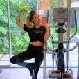 Giovanna Ewbank voltou a treinar na gravidez em março
