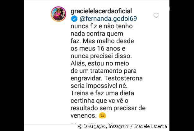 Graciele Lacerda revela tratamento para engravidar: 'Estou no meio'