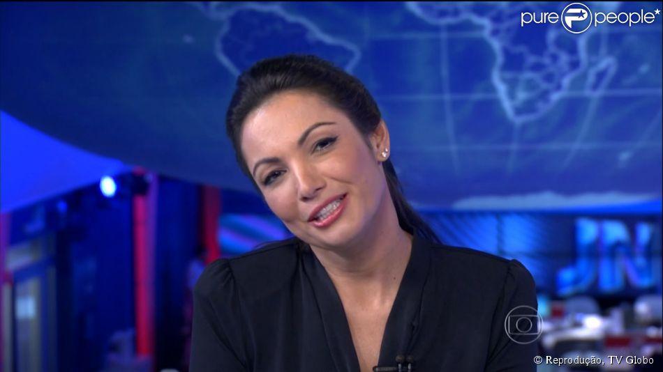 Patricia Poeta se emociona ao se despedir da bancada do 'Jornal Nacional': 'Até Breve', afirmou a jornalista na noite desta sexta-feira, 31 de outubro de 2014
