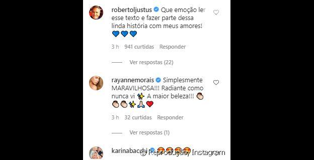 Roberto Justus comenta em foto de Ana Paula Siebert sem maquiagem com a filha do casal
