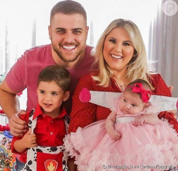 Zé Neto tieta filha Angelina em fotos com lookinho fashion e laços. Confira o ensaio divulgado nesta terça-feira, dia 18 de agosto de 2020