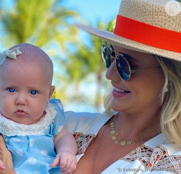 Vestido igual: Ana Paula Siebert e a filha combinam look rendado. Veja vídeo em matéria nesta domingo, dia 06 de setembro de 2020
