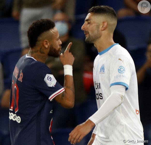 Neymar sofre racismo do espanholÁlvaro González em partida do PSG contra oOlympique de Marselha, neste domingo, 13 de setembro de 2020