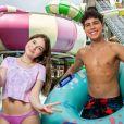 Sophia Valverde e Igor Jansen aproveitaram dia de lazer no Beach Park