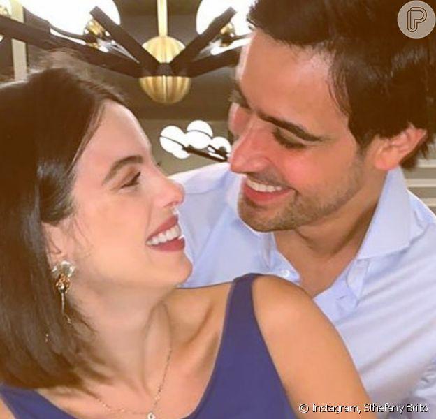Sthefany Brito deu à luz Antonio Enrico neste domingo, 1 de novembro de 2020