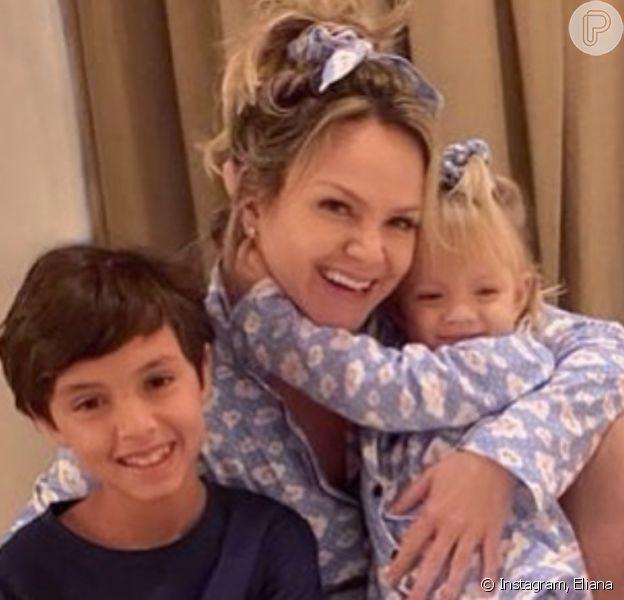 Eliana detalha diferença na criação dos filhos, Arthur e Manuela
