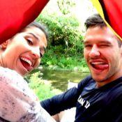 Nando Rodrigues mostra rotina em acampamento com a namorada: 'Ela curte'