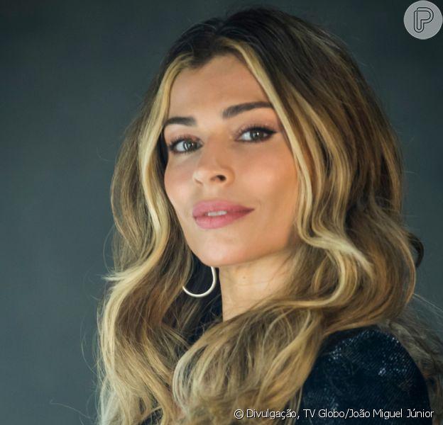 Grazi Massafera posa sem maquiagem no programa 'Simples Assim', de Angélica, em 21 de outubro de 2020