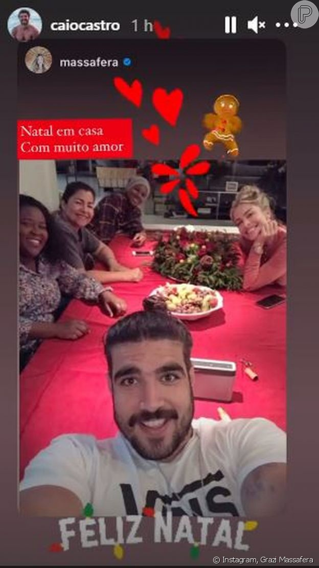 Grazi Massafera e Caio Castro passam o Natal juntos