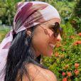 Penteado com lenço é um dos estilos que tem chamado atenção de Graciele Lacerda