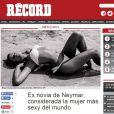 Título de 'mais sexy' para Bruna Marquezine ganhou destaque no portal 'Récord', no México