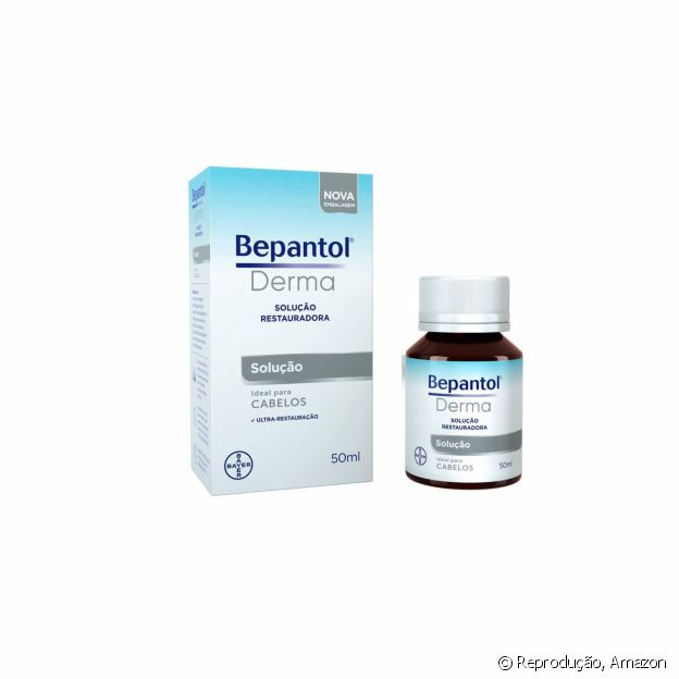 Solução hidratante para cabelos, de Bepantol Derma