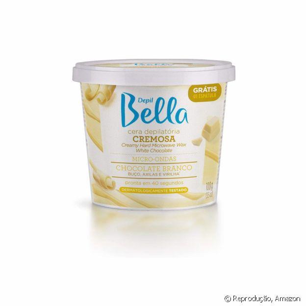A cera depilatória da Depil Bella está disponível na Amazon