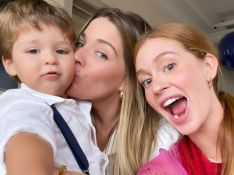 Marina Ruy Barbosa elege look estiloso e encanta em festa de filho de Luma Costa