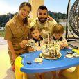 Andressa Suita tem dois filhos com Gusttavo Lim: Gabriel (3) e Samuel (2)