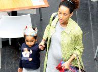 Taís Araújo, grávida de 6 meses, se diverte em passeio com o filho, João Vicente