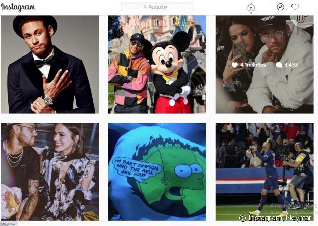 Neymar mantém fotos com Bruna Marquezine no seu Instagram