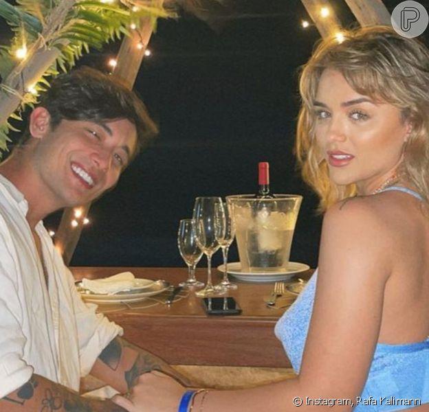 Rafa Kalimann organizou jantar romântico para o namorado, Daniel Caon, em 23 de abril de 2021