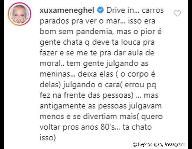 Xuxa opina sobre sexo no carro e divide opiniões na web