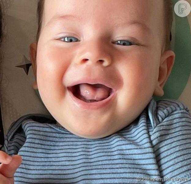 Kyra Gracie postou nova foto com o filho, Rayan, e beleza do menino roubou a cena