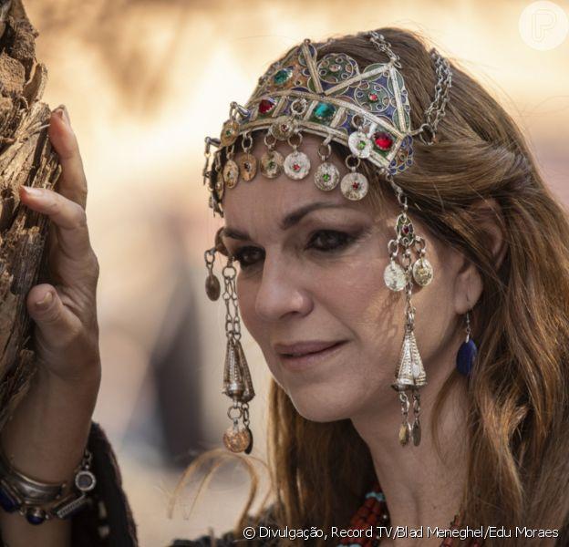 Novela 'Gênesis': Sara (Adriana Garambone) fica decepcionada com descoberta e é traída por Agar (Hylka Maria)