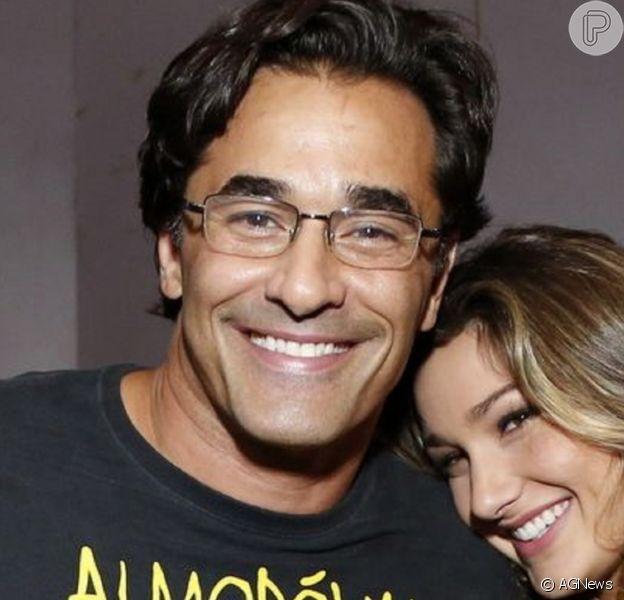 Sasha Meneghel dançou com o pai, Luciano Szafir, em sua festa de casamento com João Figueiredo, em Angra dos Reis, em 22 de maio de 2021