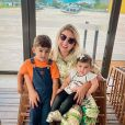 Natália Toscano é mãe de José Filho, de 3 anos, e Angelina, de 1