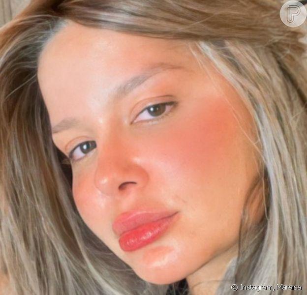 Maraisa experimenta cabelo loiro e curto e avalia mudança de visual: 'Gostaram?'