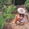 Giovanna Ewbank mostrou o quintal de sua casa nova, cheio de árvores frutíferas
