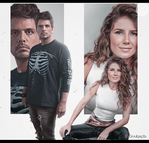 Marcus Menna e Paula Fernandes juntos na capa do single 'Amor em Excesso'