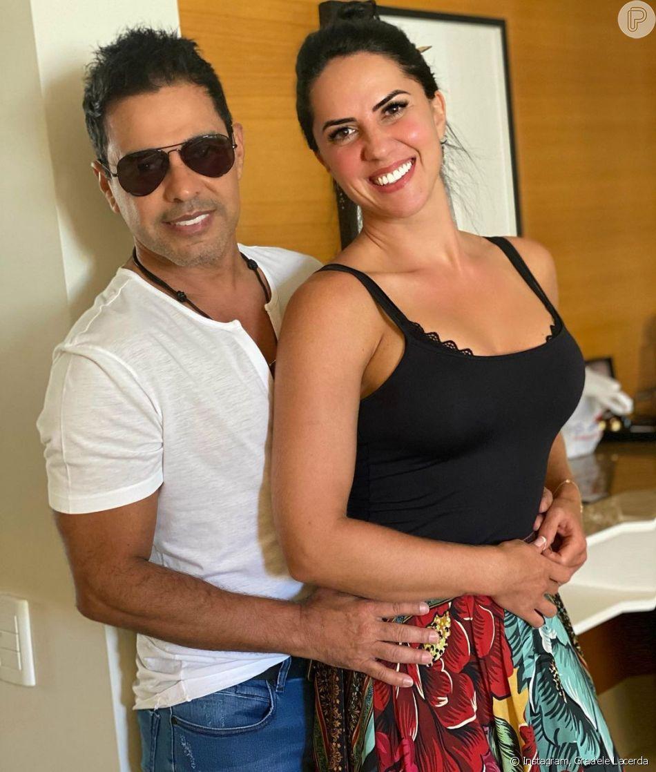 Graciele Lacerda e Zezé Di Camargo já moravam juntos, o que deixou os fãs confusos sobre noivado