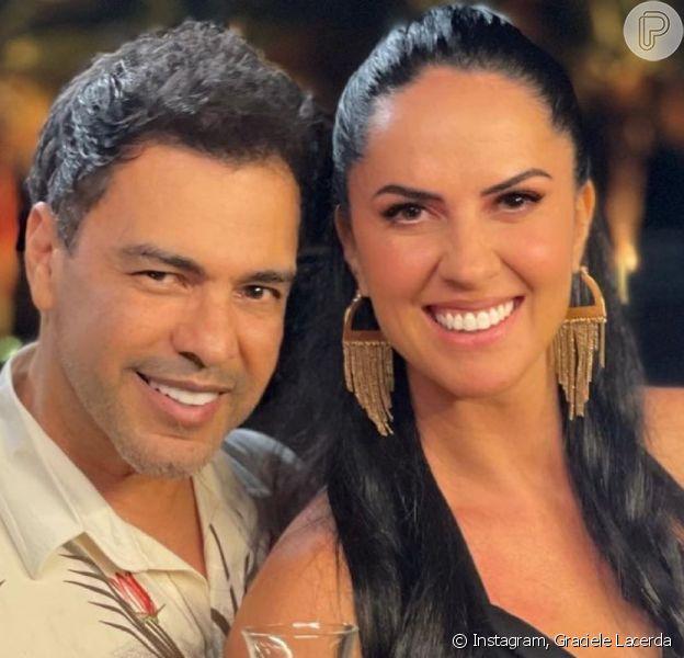 Graciele Lacerda e Zezé Di Camargo ficam noivos, em 12 de junho de 2021