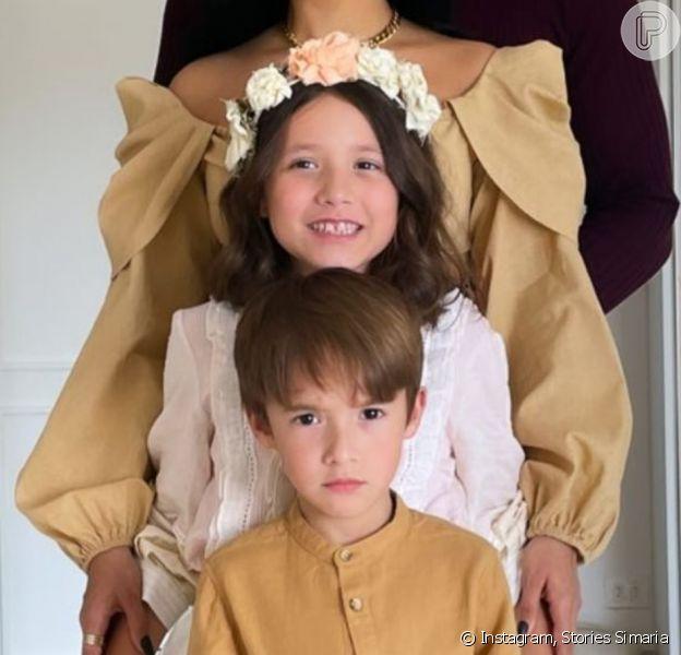 Simaria reuniu a família em foto
