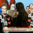 Débora Lyra distribui caveirinhas para Felipeh Campos, mas ressalta: 'Não lhe desejo mal'