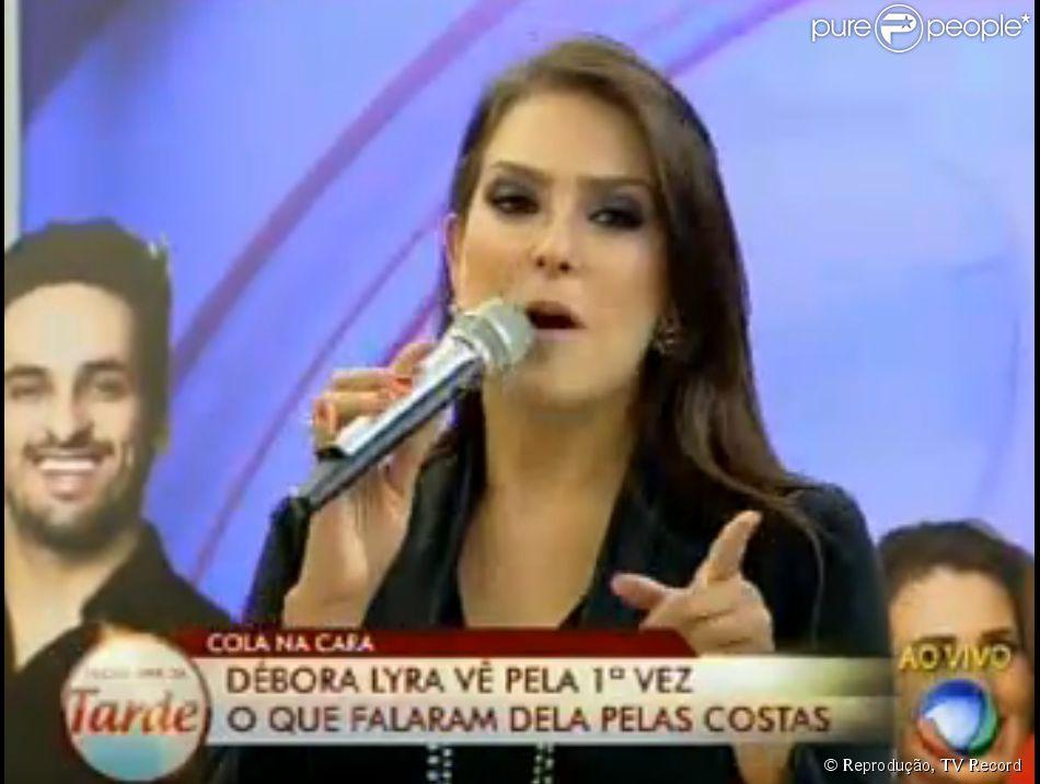 Débora Lyra afirmou durante participação no 'Programa da Tarde': 'Vou fazer do Marlos o vencedor', em relação a sétima temporada de 'A Fazenda'
