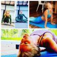 Angélica compartilha progresso na prática de ioga e amigas famosas prestam apoio