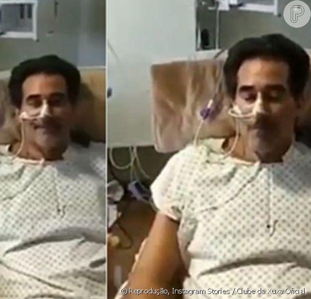 Luhanna Melloni alimenta Luciano Szafir pela primeira desde que ator saiu da intubação